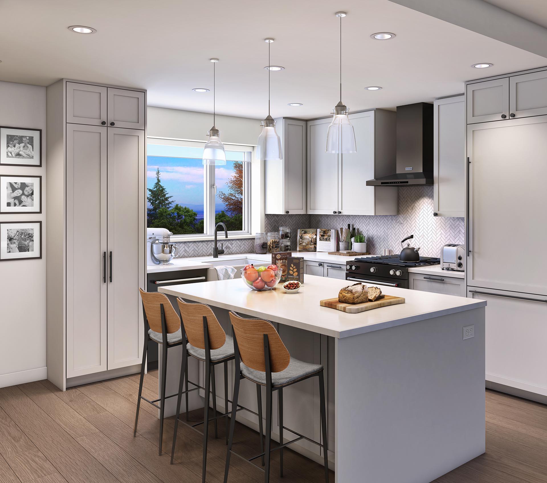 Roof deck duplex kitchen